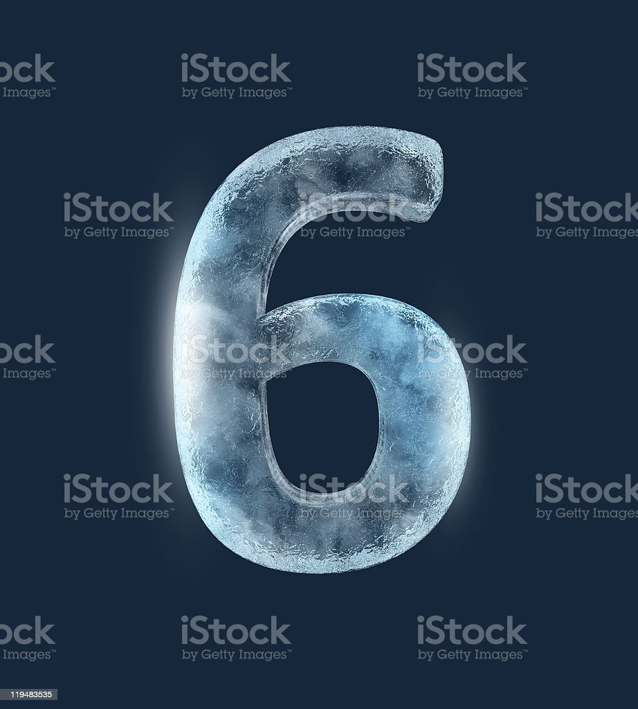Icing alphabet the number 6 royalty-free stock photo