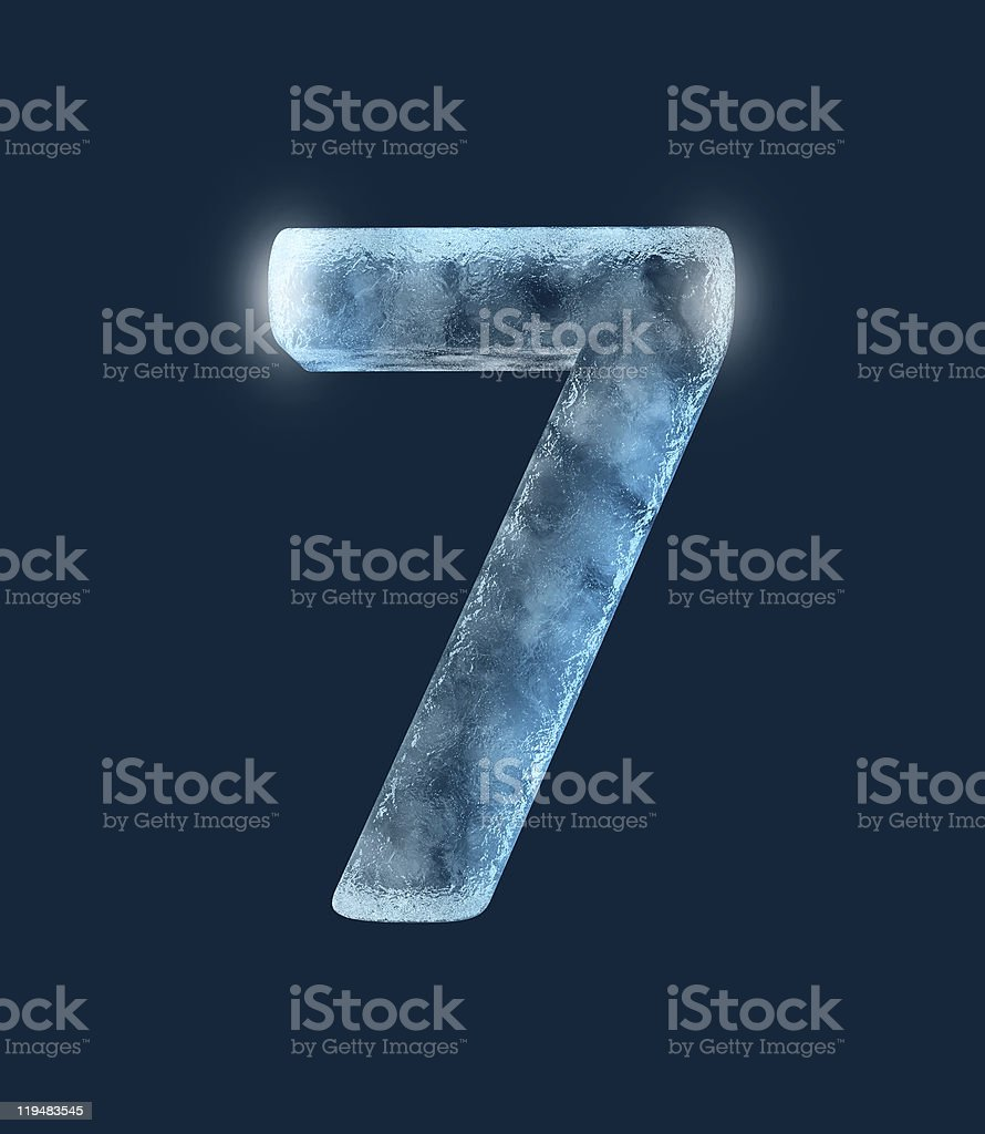 Icing alphabet the number 7 stock photo