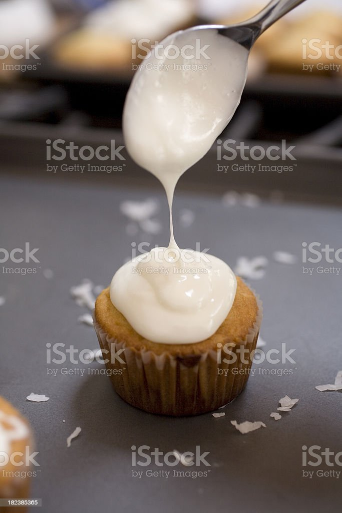 Icing cupcakes royalty-free stock photo