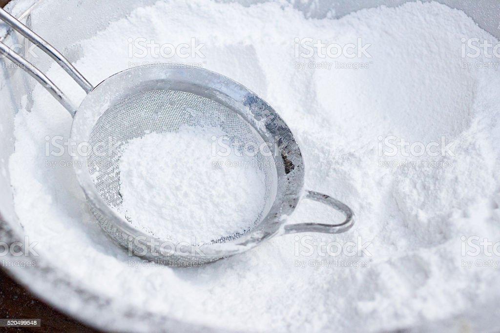 Icing sugar stock photo