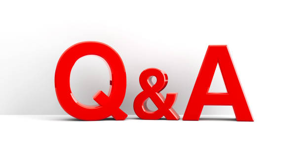 Q&A icon background stock photo