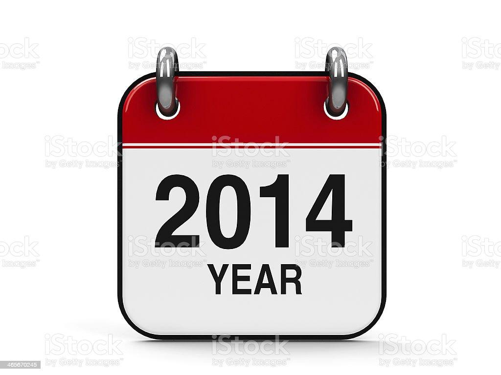 Icon calendar 2014 year royalty-free stock photo