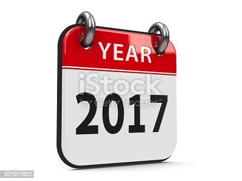 168445178 istock photo Icon calendar 2017 year 521077622