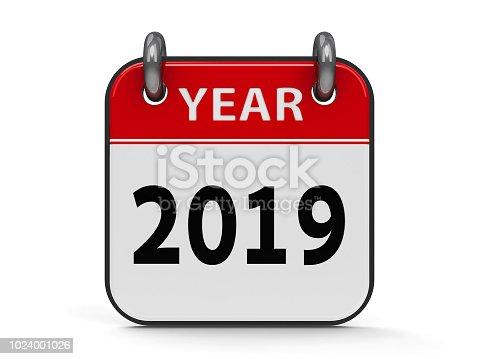 istock Icon calendar 2019 year 1024001026