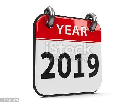 168445178 istock photo Icon calendar 2019 year #2 937370484
