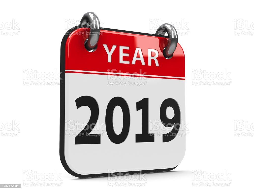 Icon calendar 2019 year #2 stock photo