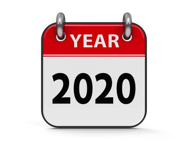 ikonenkalender 2020 jahr - kalender icon stock-fotos und bilder