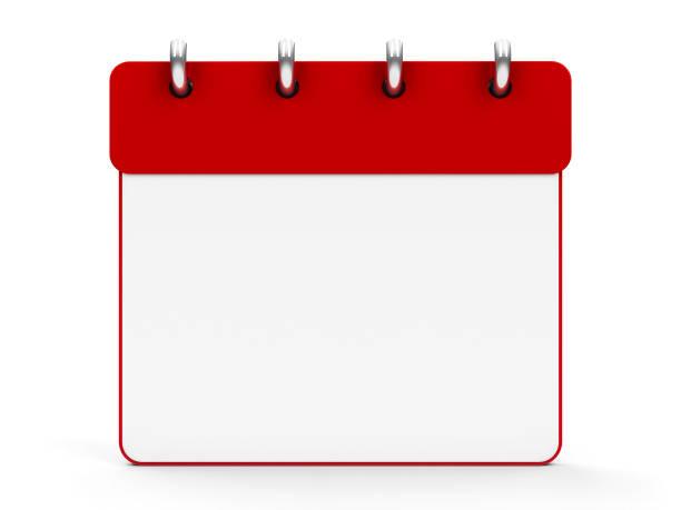Icon calendar #4 stock photo