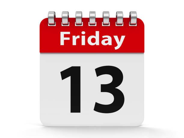 symbol kalender spirale 13. freitag - kalender icon stock-fotos und bilder