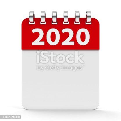 168445178 istock photo Icon calendar spiral 2020 year 1162350934