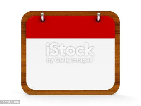 istock Icon calendar wooden 577323186