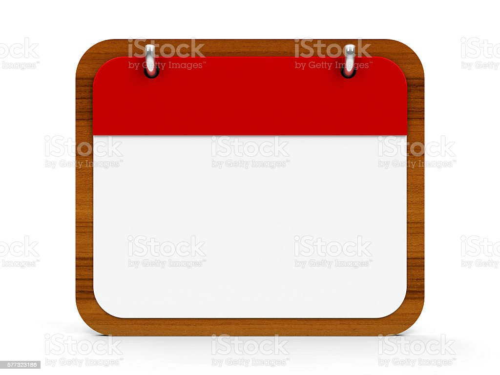 Icon calendar wooden stock photo