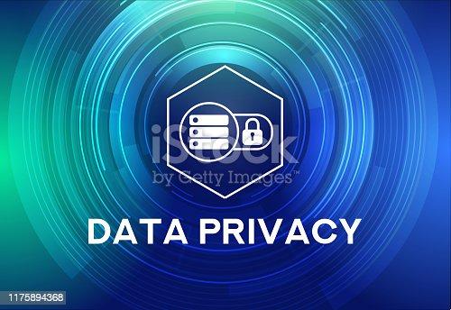 DATA PRIVACY Icon Concept