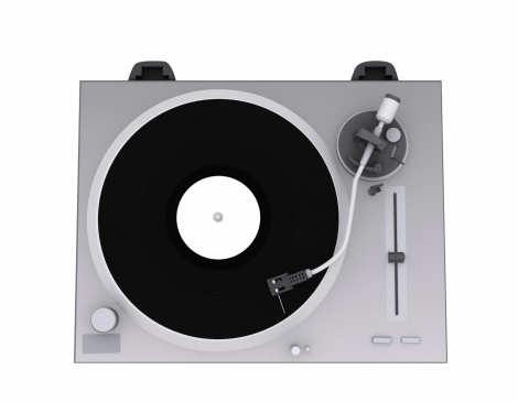 3d Icon Dj Turntable Silver Stock Photo - Download Image Now