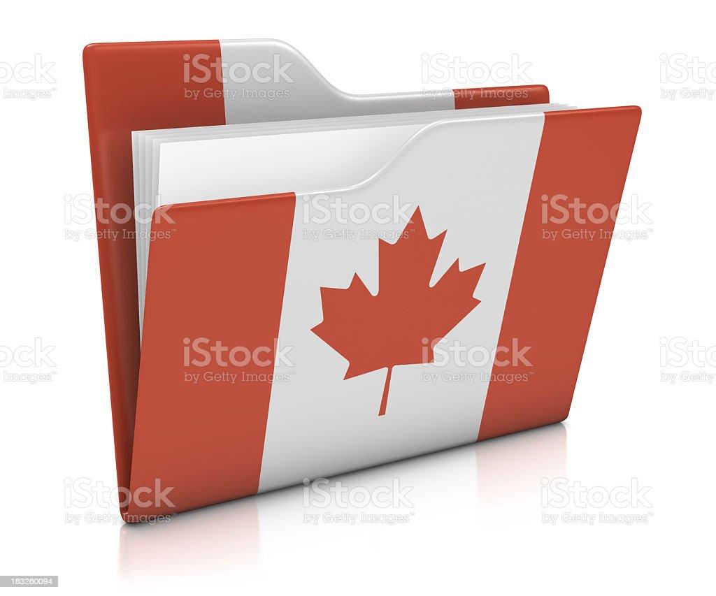 Icon Folder - Canada Flag royalty-free stock photo