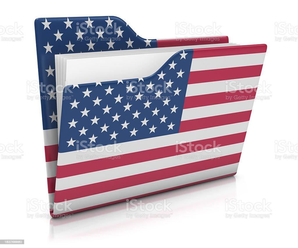 Icon Folder - USA Flag stock photo