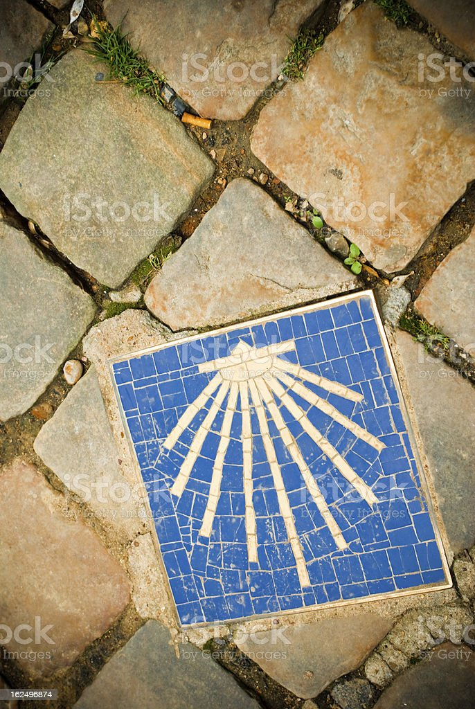 Icon for pilgrims royalty-free stock photo