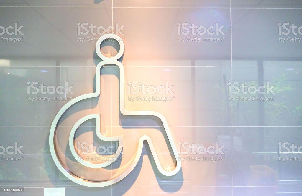 Symbol-Handicap-Symbol Stick an der Wand – Foto