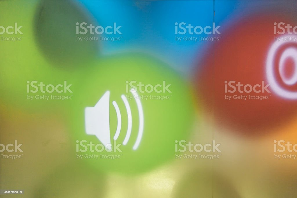 icon in A Complex Color Background stock photo