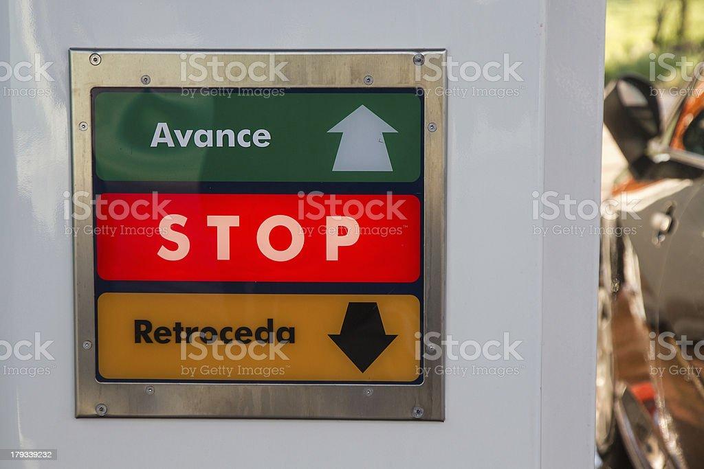 Icon indicators tunnel automatic car wash stock photo