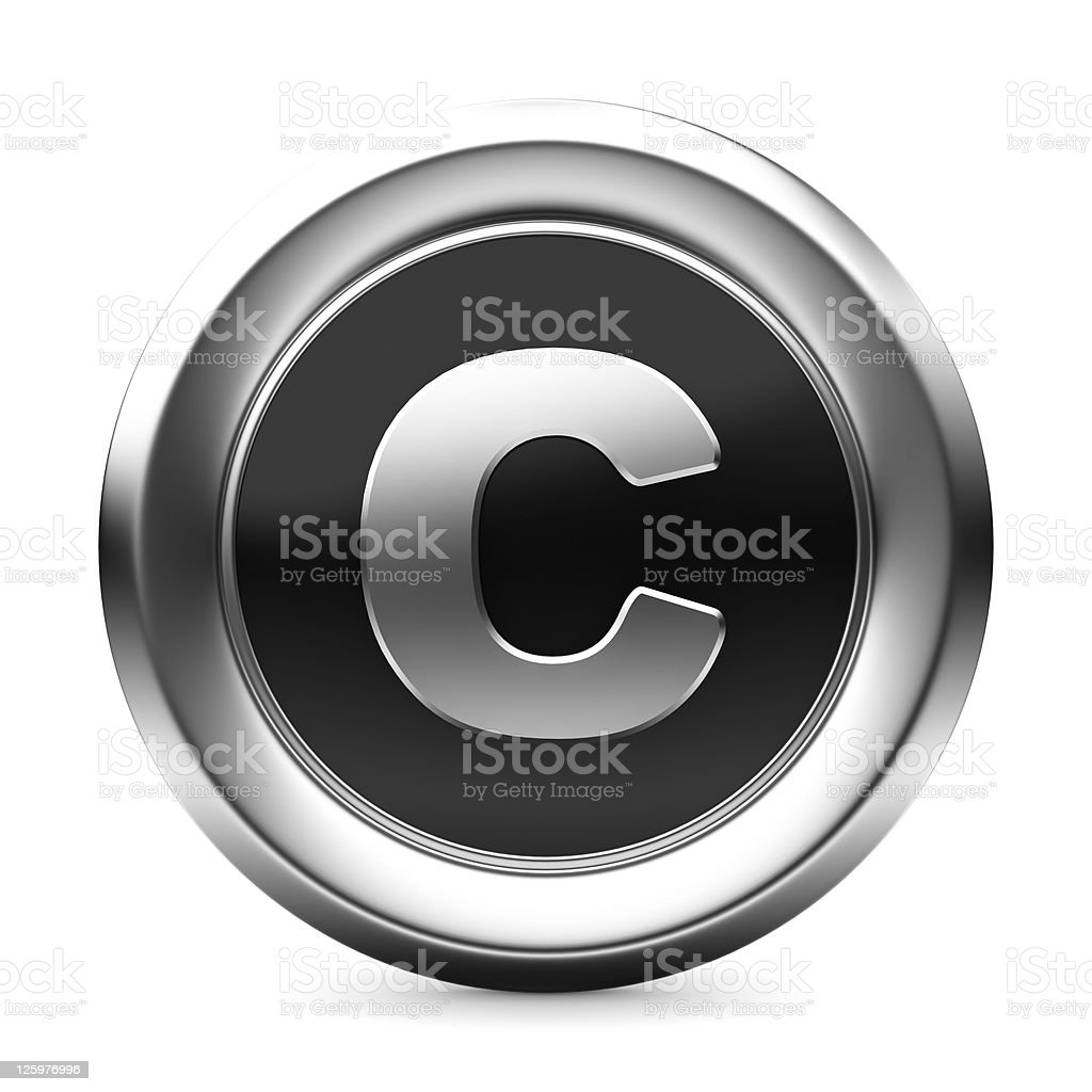 icon letter C royalty-free stock photo