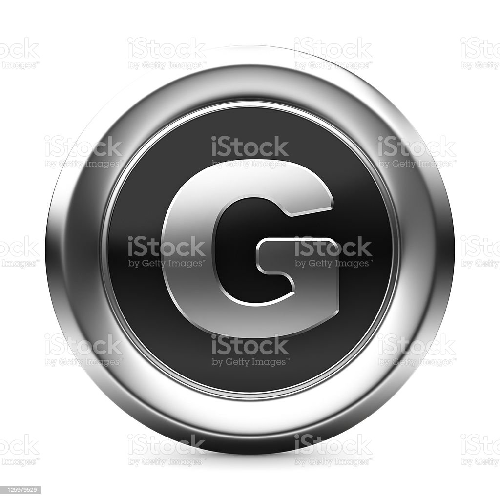 icon letter G royalty-free stock photo