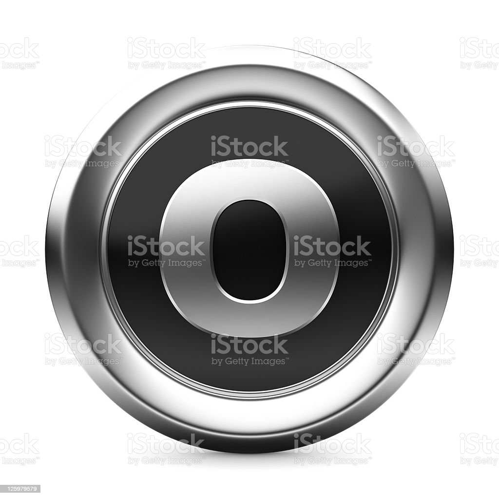 icon letter O royalty-free stock photo