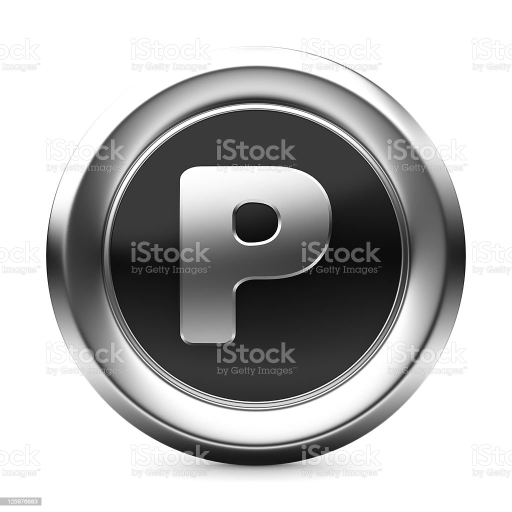 icon letter P royalty-free stock photo