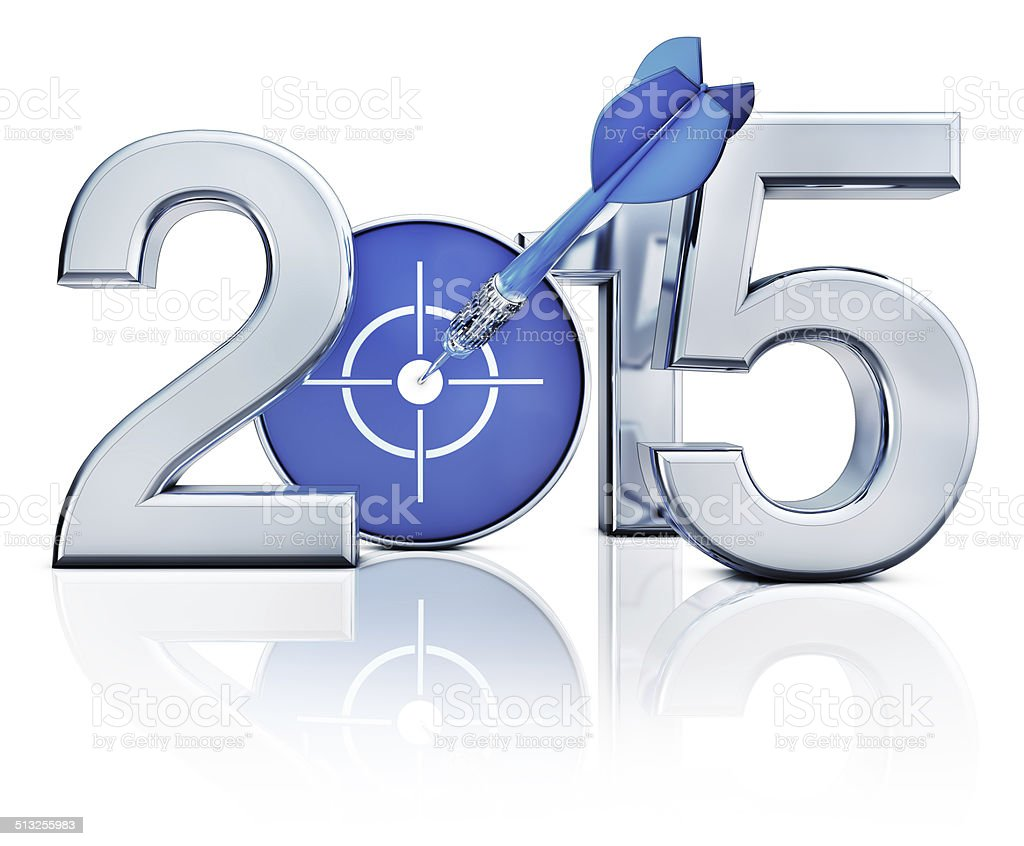 icon of 2015 3D rendering of a 2015 icon 2015 Stock Photo