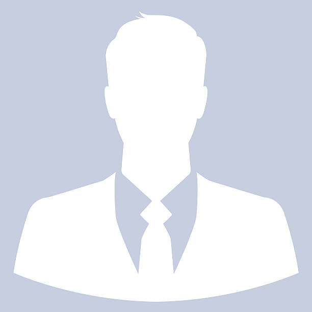 A icon of a businessman avatar or profile pic stock photo