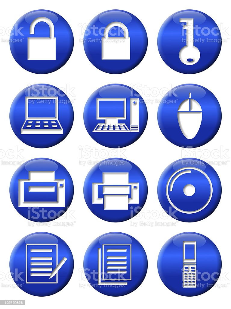 Icon of business tool stock photo