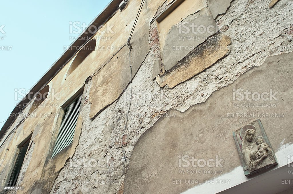 Icon of Holy Mary in Calci, Tuscany royalty-free stock photo