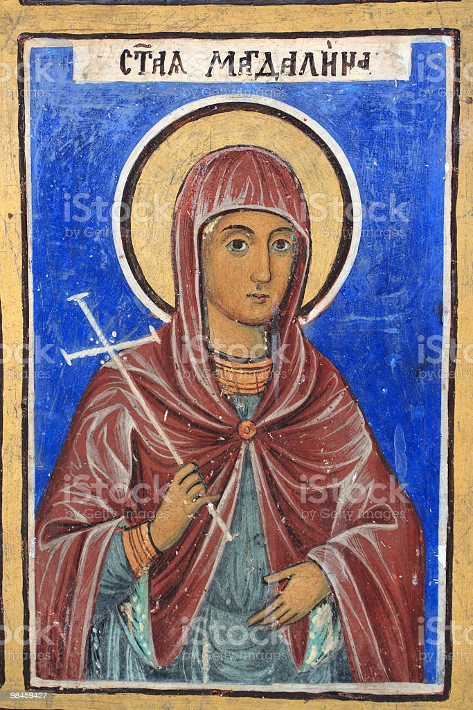 Icon of St. Maria Magdalena royalty-free stock photo
