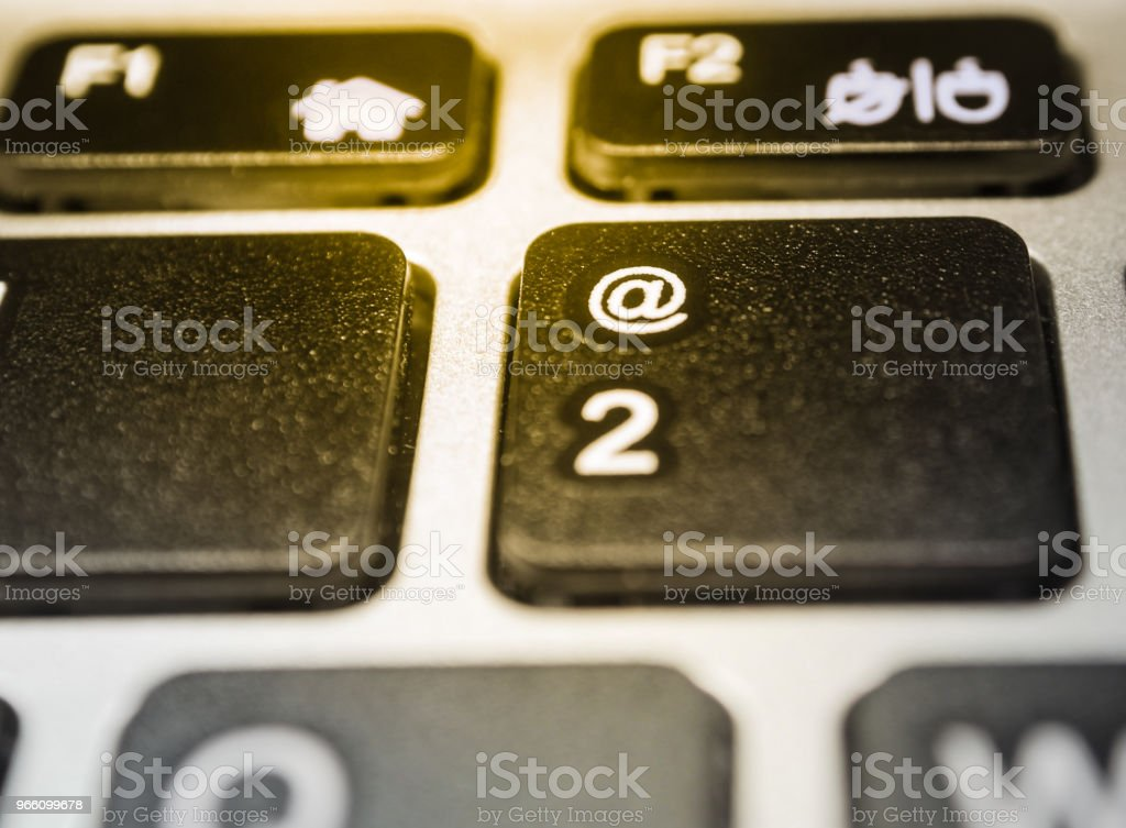 Icon @ on the computer keyboard. - Royalty-free Blogging Stock Photo