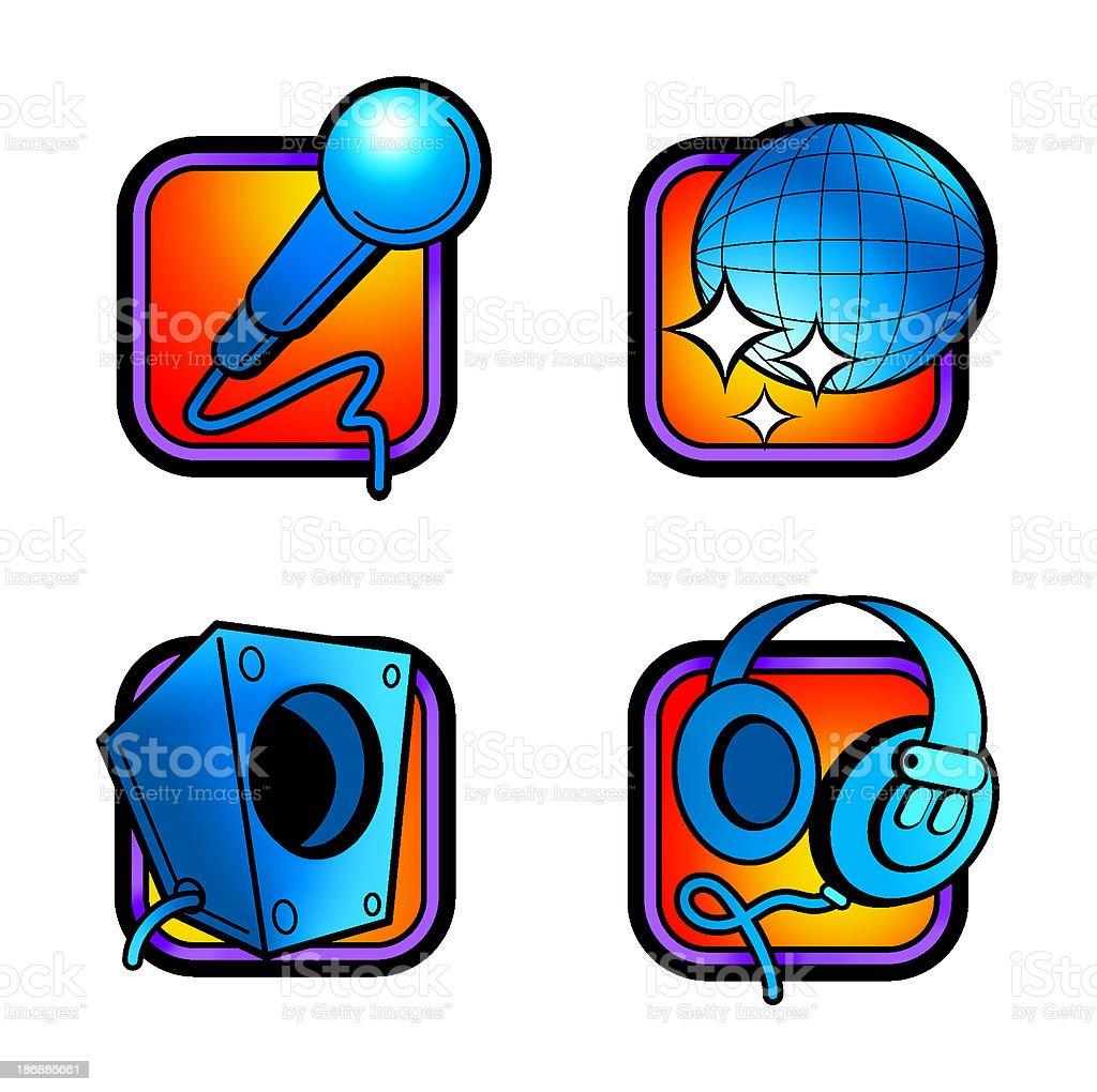icon - pictograms ( entertainment ) royalty-free stock photo