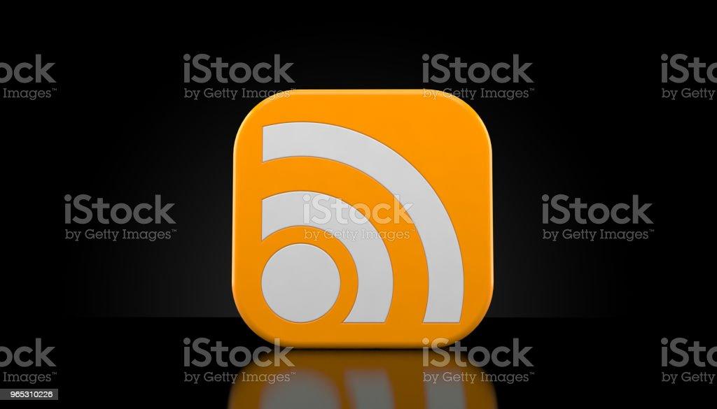 RSS icon zbiór zdjęć royalty-free