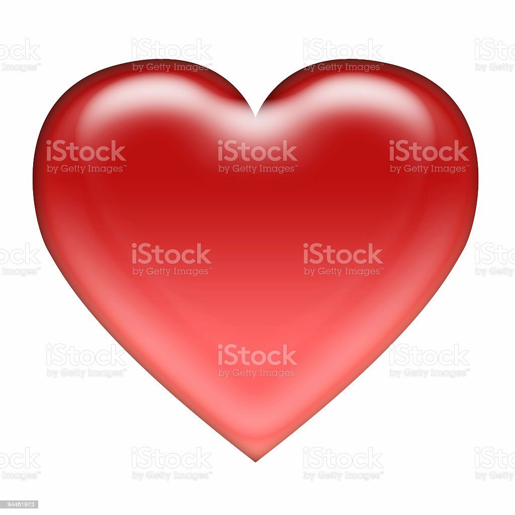 Icon - red heart royalty-free stock photo