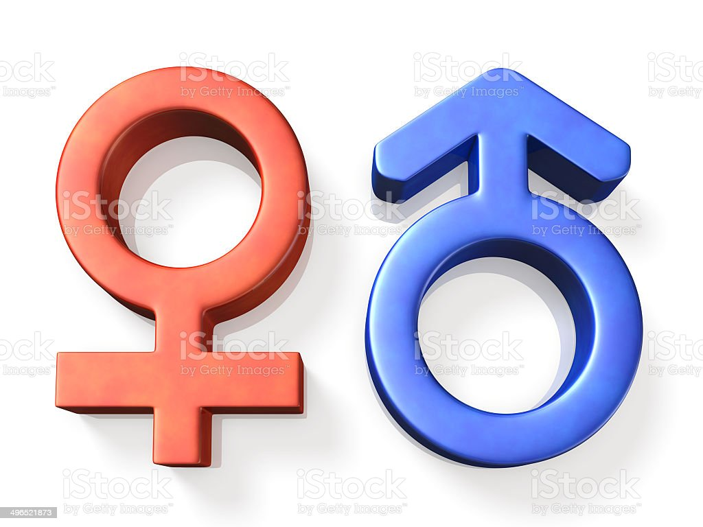 Icon representing the male and female stock photo