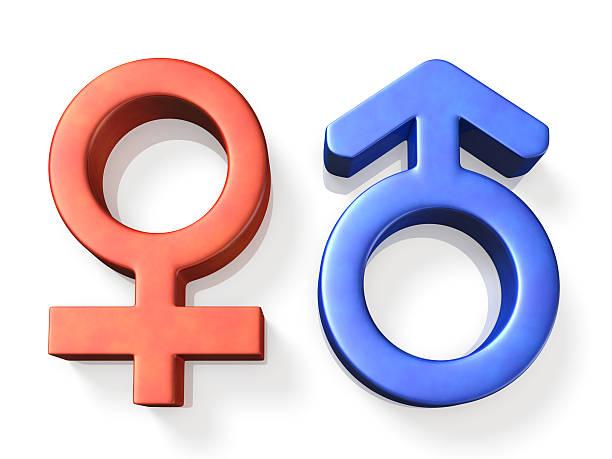 O ícone representa o masculinos e femininos - foto de acervo
