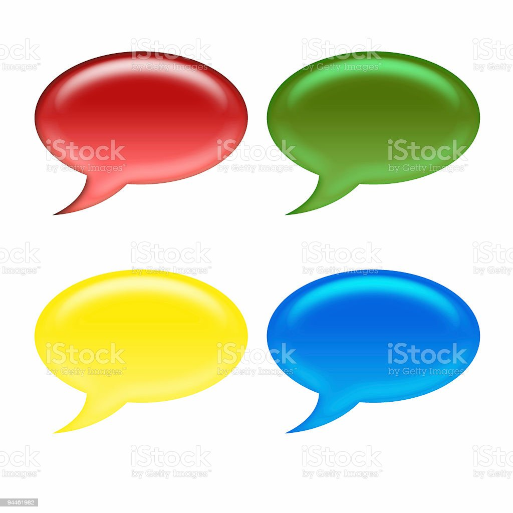 Icon - Speech Bubbles royalty-free stock photo