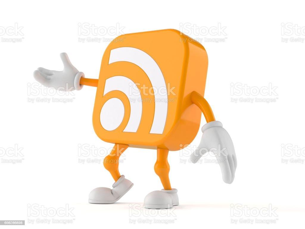 RSS icon toon stock photo