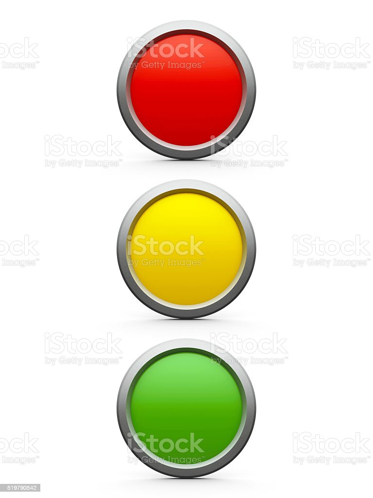 Icon traffic lights stock photo