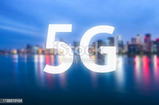 1155541483istockphoto 5G icon with city skyline 1133310104