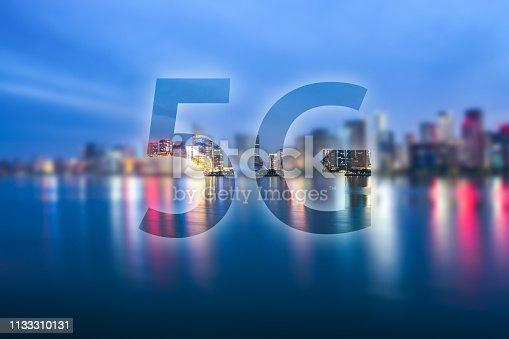 1155541483istockphoto 5G icon with city skyline 1133310131