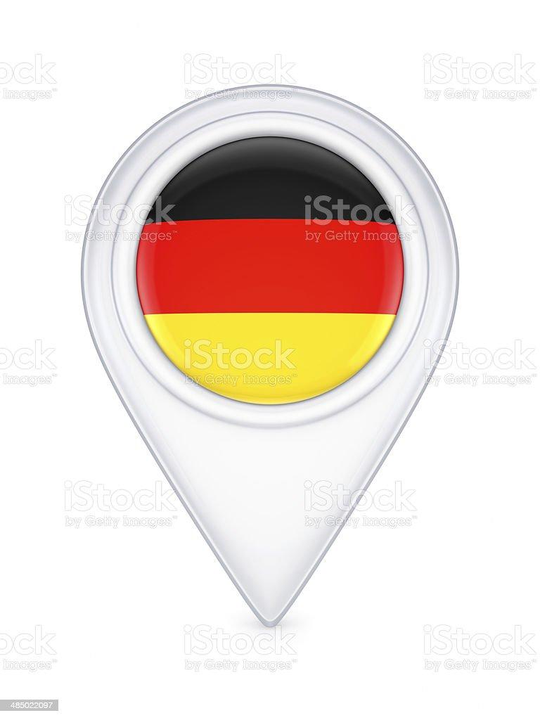 Icon with german flag. stock photo