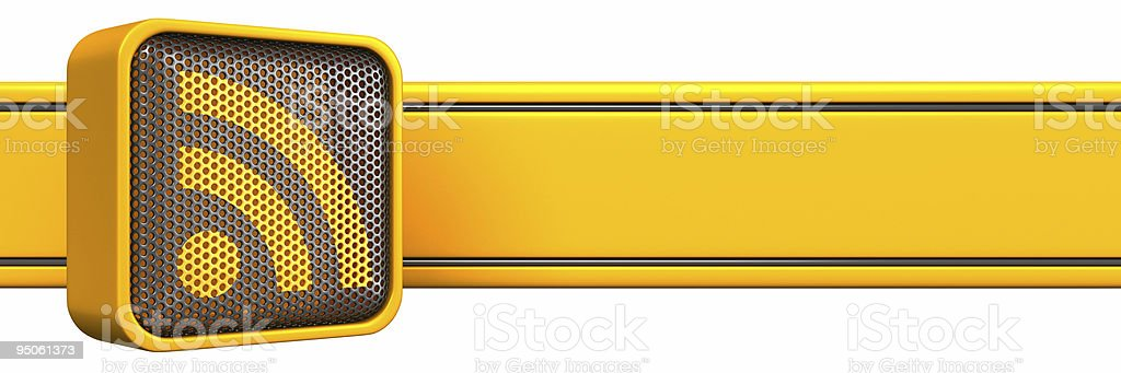 RSS icon with stripe royalty-free stock photo