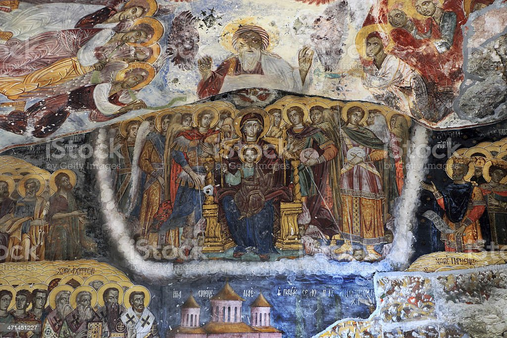 Icona from Sumela Monastery stock photo