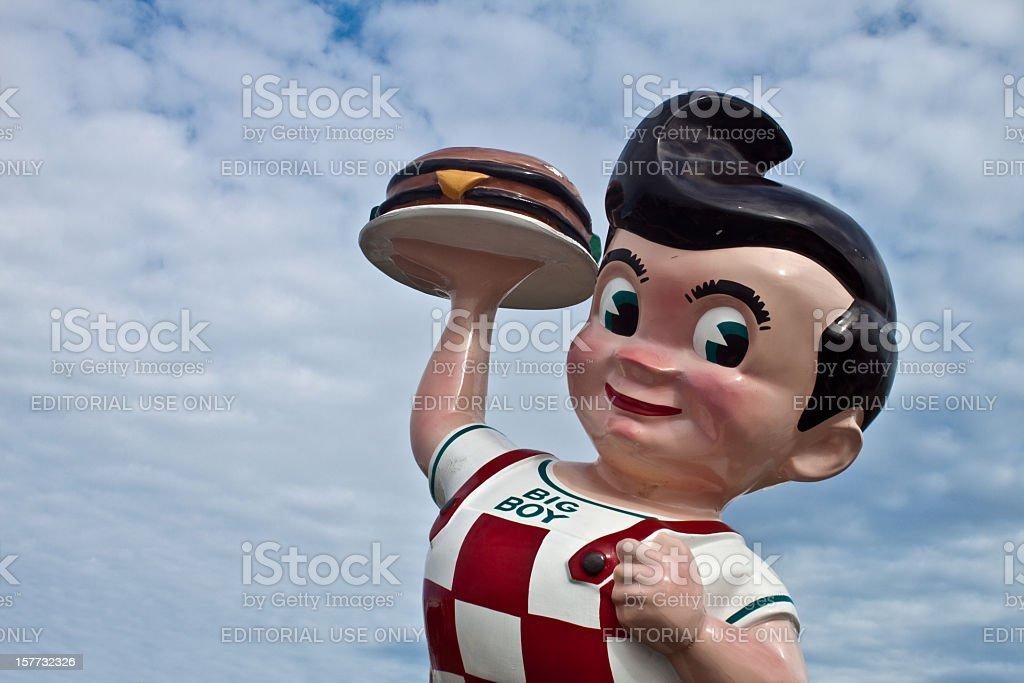 Iconic Big Boy Statue stock photo
