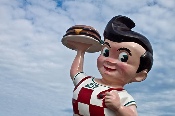 Iconic Big Boy Statue  bib overalls boy stock pictures, royalty-free photos & images