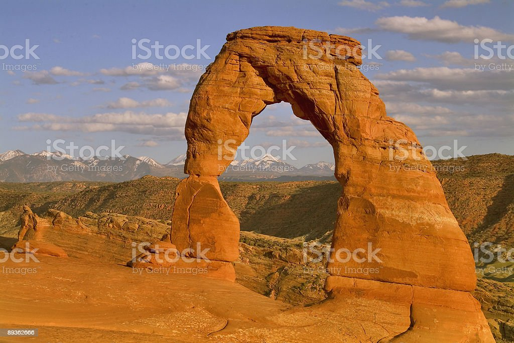 iconic delicate arch in utah royalty-free stock photo